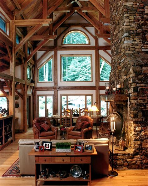 Home Exterior Design Consultant Mountain Respite Timber Frame Home In Rural North Carolina