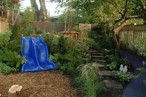 natural playground ideas backyard let the children play just add stones logs stumps and mounds