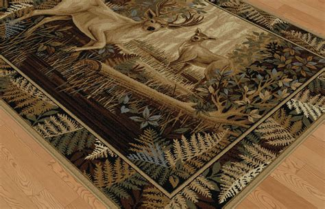 deer bathroom rugs woodland deer rug collection