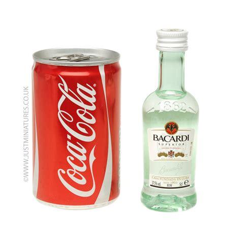 bacardi rum coke miniature mini can set just miniatures