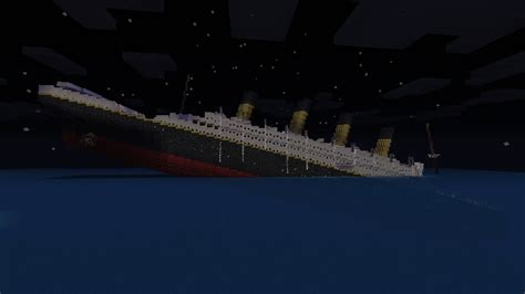 Titanic In Minecraft Sinking r m s titanic sinking minecraft project