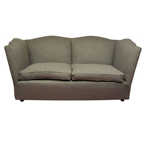 charcoal grey loveseat charcoal grey wool flannel sofa at 1stdibs