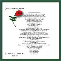 Niece poem personalized angel aunt poems aunt poems