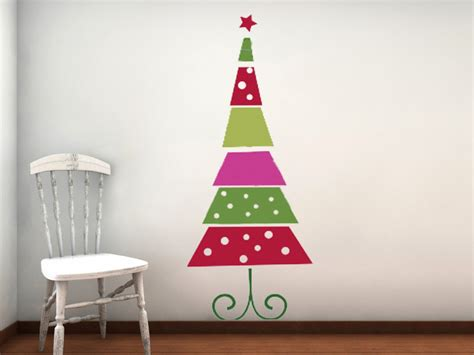 funky retro christmas tree vinyl wall decal by