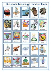 cooking verbs pictionary teaching adults esl english