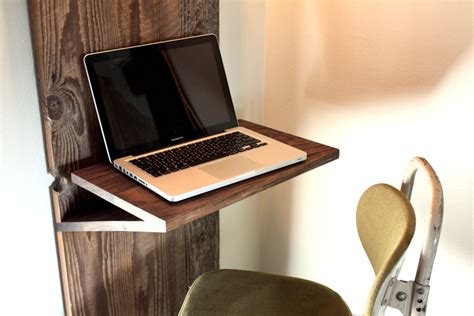 Laptop Wall Desk Wall Mounted Laptop Table Wood Minimalist Desk Design Ideas