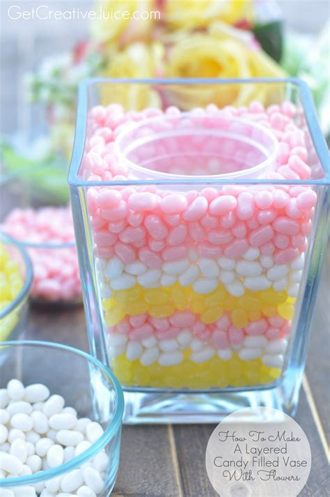 Nice Flower Vases How To Make A Layered Candy Filled Vase With Flowers