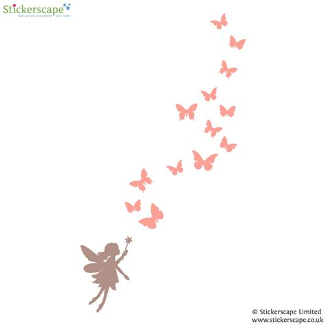 Wall Butterfly Stickers fairies and butterflies wall sticker stickerscape uk