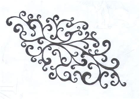 swirl tattoo designs deviantart more like bow swirl by average sensation