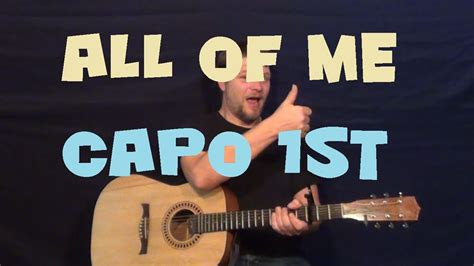 tutorial guitar of all of me all of me john legend easy strum fingerstyle guitar
