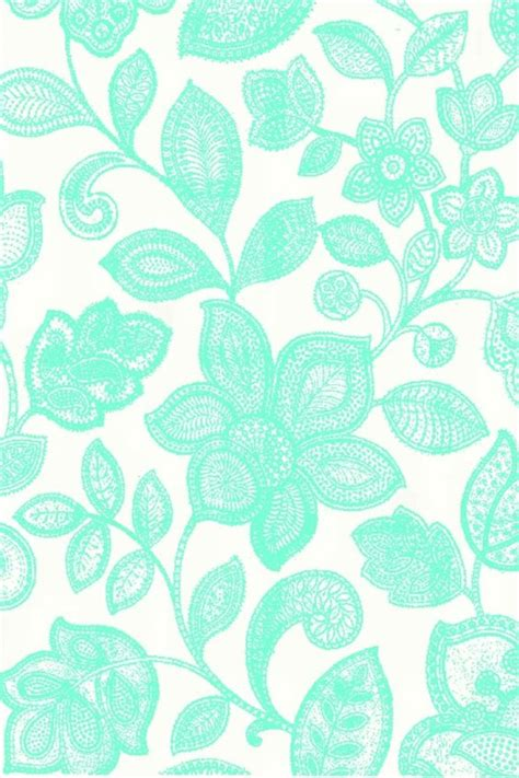 wallpaper green turquoise mint floral lace wallpaper phone wallpapers pinterest