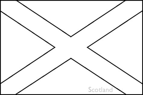 Scotland Flag Printable Coloring Pages Coloring Pages Scotland Flag Coloring Page