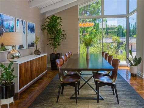 the breakfast room midcentury modern dining room photos hgtv