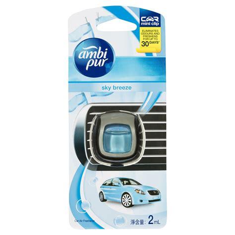 Ambipur Mini Sky ambi pur car air freshener vent clip small various fragrances 6 per box allcare