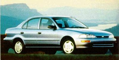 1993 geo prizm history, pictures, sales value, research