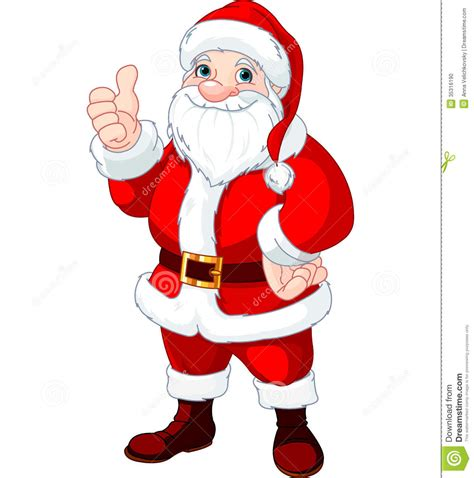 best drawi g of santa clause with chrisamas tree thumbs up santa claus stock vector image of senior picture 35316190