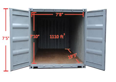 Square Meters To Square Feet by 20 Storage Container Rentals A B Richards