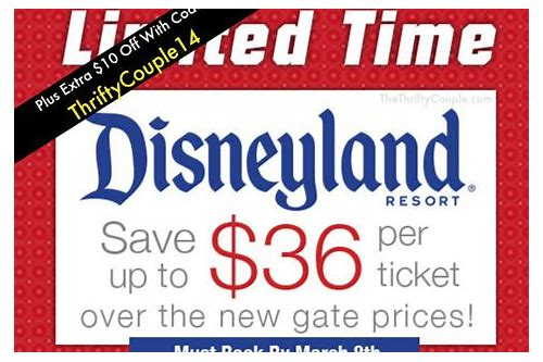 printable disneyland ticket coupons
