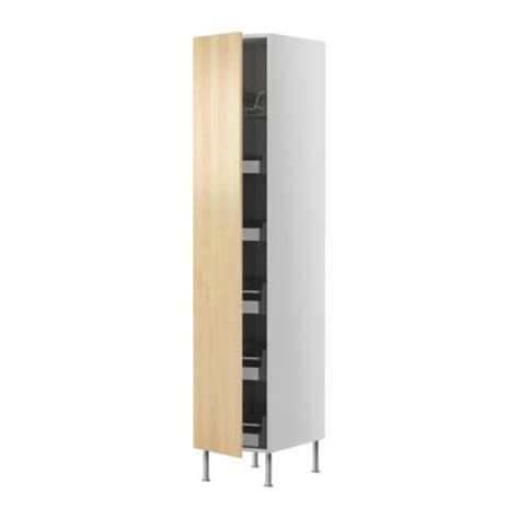 ikea tall kitchen cabinets faktum high cabinet w drawers wire basket nexus birch