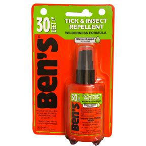 bens 30 deet tick & insect repellent spray travel size