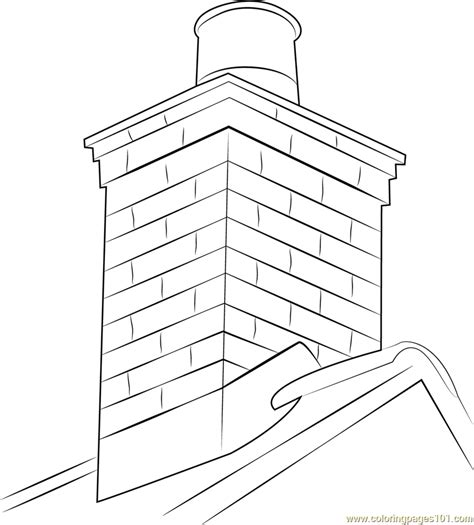 masonry chimney coloring page free chimney coloring