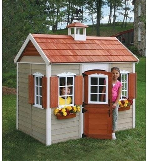 wooden backyard playhouse how to decorate your child s wooden playhouse owatrol direct