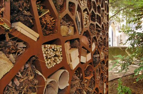 pollinator walls bee towers  insect hotels honey