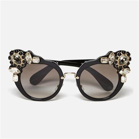Frae Miu Cat 138 miu miu s couture cat eye sunglasses black free