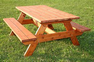 good wood species  picnic tables