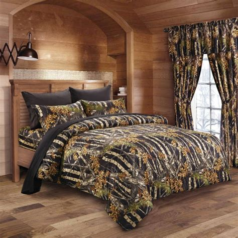 camo comforters black camo bed in a bag set the sw company