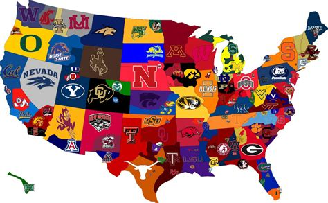 college map concepts contemplations college football fan base map