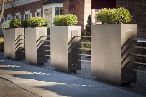 restaurant patio planters restaurant patio planters metal tubing fence