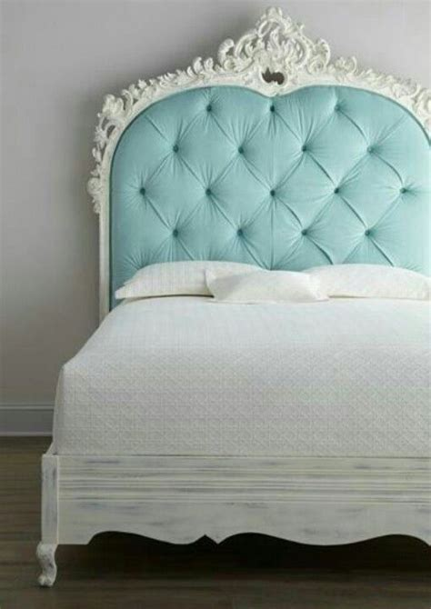 turquoise tufted headboard love the chalk painted bed frame for alexis pinterest