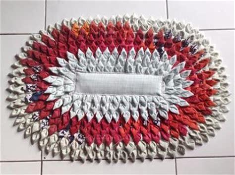 Keset Kaki Bentuk cara membuat keset kaki sendiri kerajinan tangan dari kain