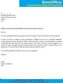 Application Letter For Booking Agent Sample Application Letter Accommodation University