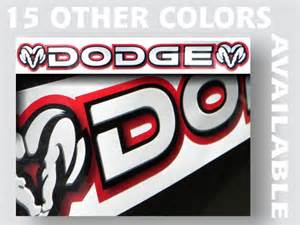 Dodge Windshield Decal Dodge Windshield Decal Ram Charger Neon Challenger Srt