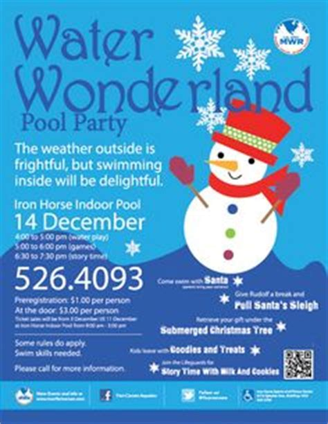 winter pool party invitation girl swim party invitation