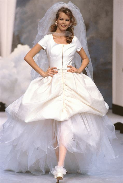 Wedding Models by Models Wearing Chanel Couture Wedding Dresses