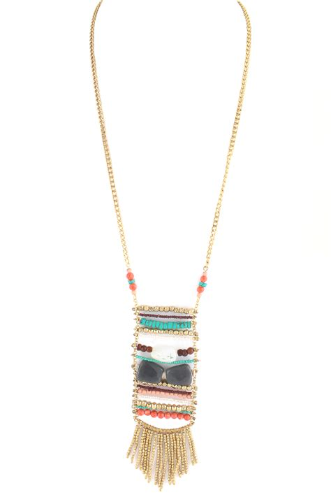multi beaded pendant necklace necklaces