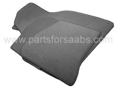 grey patterned door mat 9 3 98 02 coupe 5 door mats textile lhd grey pattern