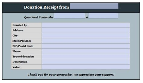 donation receipt template doc free donation invoice template receipt excel pdf