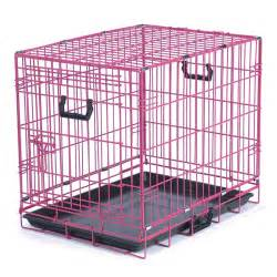 Walmart Bed Tray Crate Appeal Collapsible Wire Dog Crate Pink Punch