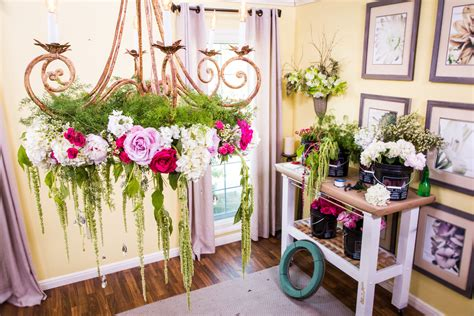 Diy Wedding Flowers by Diy Wedding Flower Chandelier Home Family Hallmark