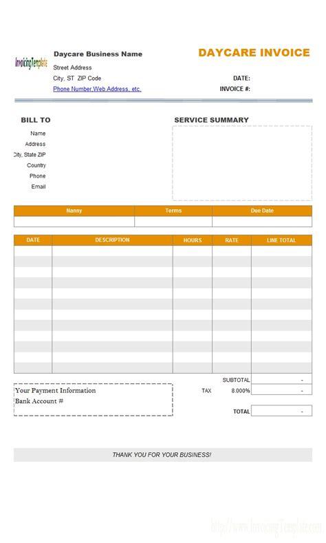 moving invoice template free child care invoice template studio design