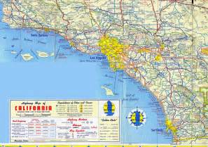 driving map of southern california large detailed road map of los angeles region los angeles