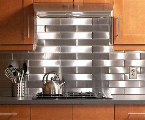 Stainless Steel Backsplash Tiles Lowes Lowes Stainless Backsplash