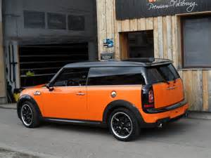 Orange Mini Cooper S Mini Cooper Clubman S Goes Toxic Orange At Schwaben Folia