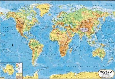 Poster Asia Maps Ukuran A1 world physical map world physical map exporter manufacturer distributor supplier delhi india