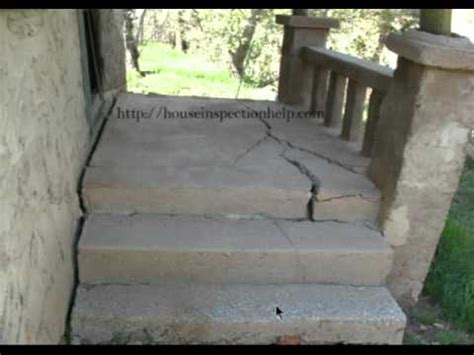 how to fix a sinking front porch extremely large cracks in concrete porch building