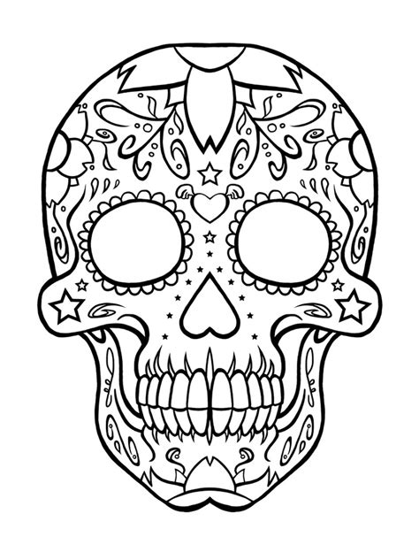 Dia De Los Muertos Coloring Pages Printable dia de los muertos coloring pages to and print